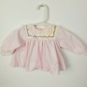 VTG INFANT BABY 3 MO USA MADE ALEXIS FRILLY DRESS
